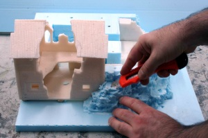 Come lavorare il polistirolo ad alta densità, 2° parte.