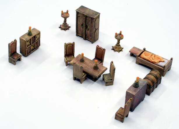 prepare medieval furniture