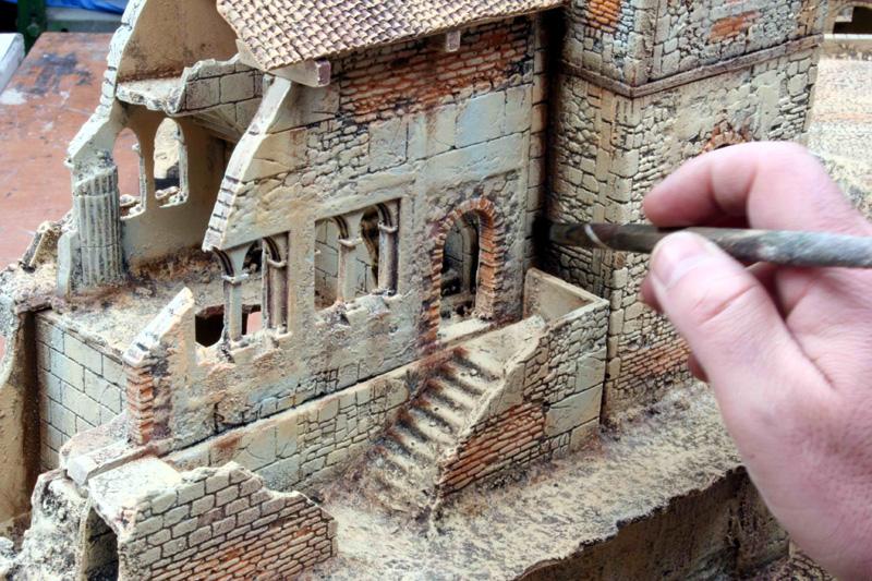 Come dipingere pietra e mattoni manorhouse workshop for Piccoli piani di baite