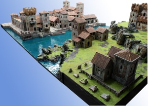 "Completed ""Mega scenery"" add miniatures"