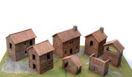Components of kit: Medieval Village - 01